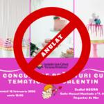 Concursul de prăjituri cu tematică Sf. Valentin anulat