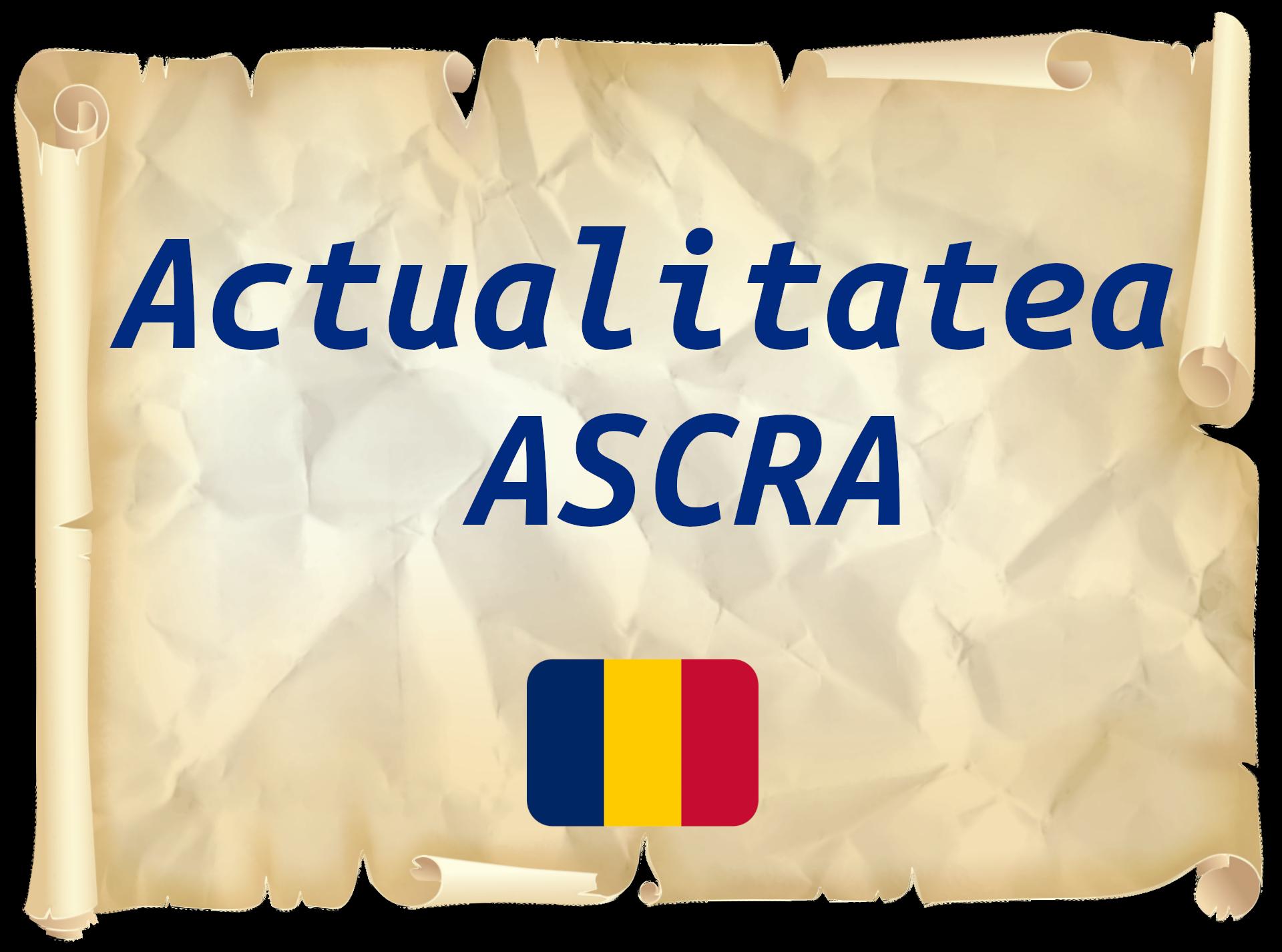 Actualitatea ASCRA
